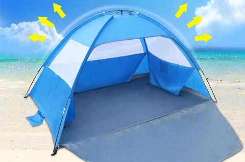 Venustas Sun Shade Easy Set Up 3-4 Person Beach Tents