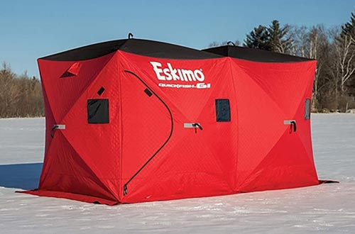 Pop-up 3-person Ice Shelter Fishing Tent Shanty Accessories Stability Room