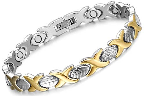 Chaninely Titanium Stainless Steel Magnetic Bracelets for Women