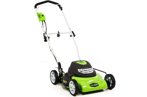 Greenworks 25012 18-Inch Corded Electric Lawn Mowers