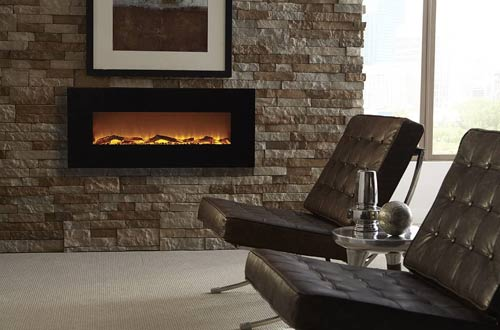 Wall Mounted Electric Fireplaces with 1500/750W Timer & Remote
