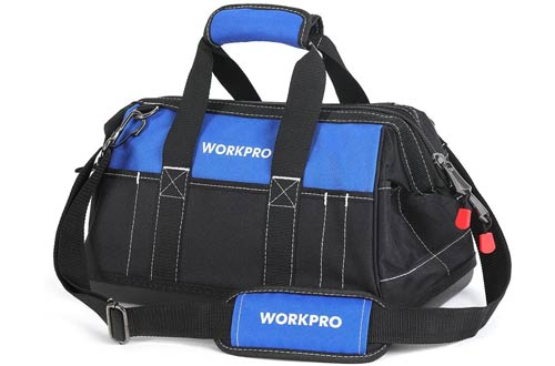 WORKPRO Wide Mouth Waterproof TechnicianTool Bags with Molded Base