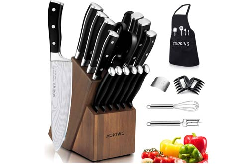 Mao Mao Jewelry 22 pc Germany Stainless Steel Forged Chef Knife Block Sets