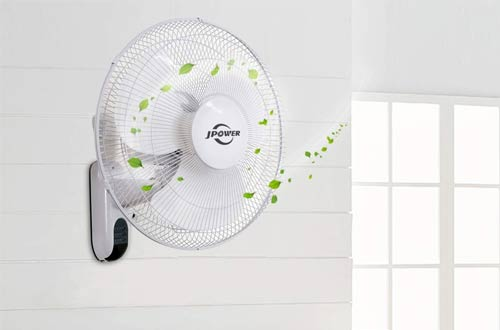 JPOWER Digital Wall Mounted Fans with Remote Control