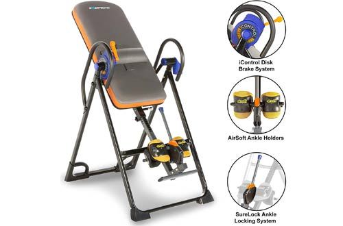 Exerpeutic 350 lbs Inversion Tables with Air Soft Ankle Cushions