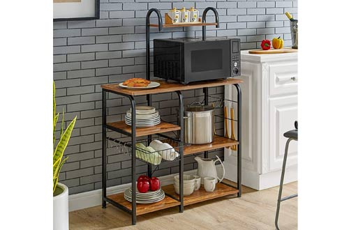 Kitchen Microwave Stand with Storage