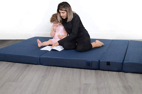 Milliard Twin Tri-Fold Foam Folding Mattresses and Sofa Bed for Guests