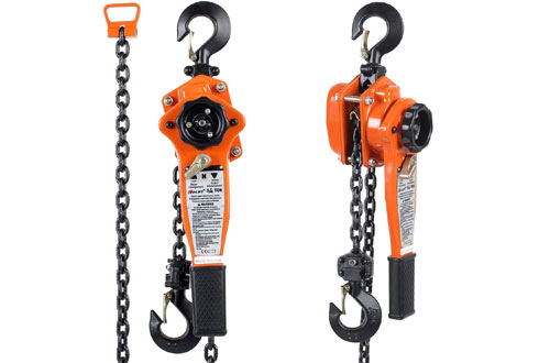 Amarite Manual Lever Chain Hoists - 10 ft Load Chain with 1650lbs