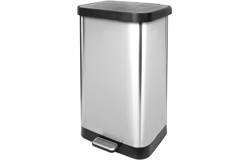 Metal Trash Can with Lid