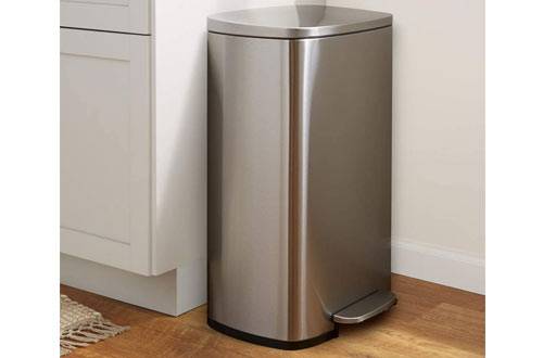 Stainless Steel Bathroom Trash Can