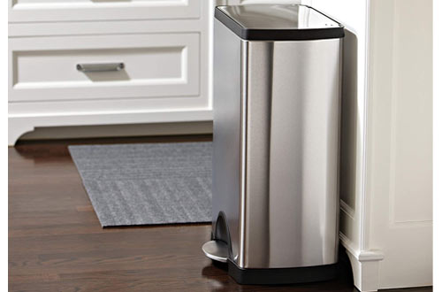 simplehuman 50 Liter Stainless Steel Kitchen Trash Can