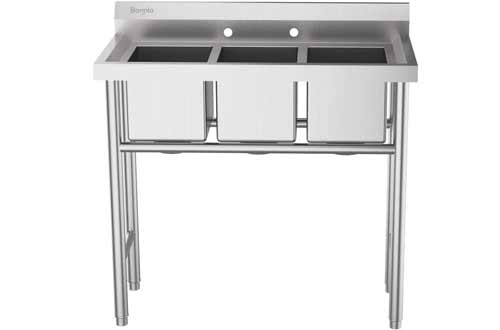 Bonnlo Stainless Steel Utility Sink - Commercial Laundry Tub